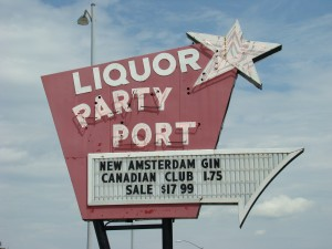 Liquor Party sign