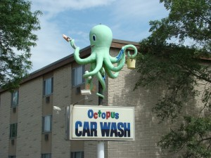 Octopus Car Wash as seen from highway